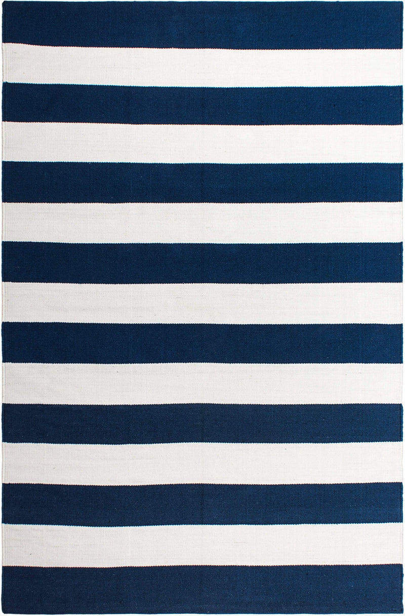 2' x 3' Nantucket - Blue & White Rug