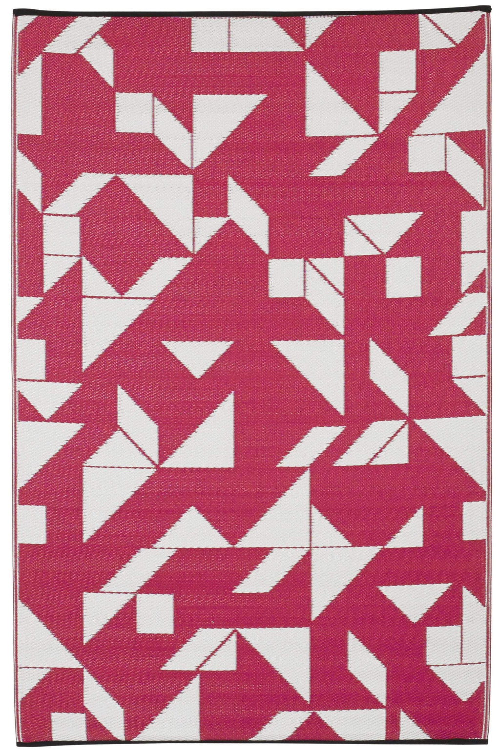 4' x 6' Santa Cruz - Beetroot & White Rug