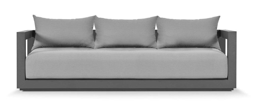 Birdseye / Asteroid Powdercoat / No Cover VAUCLUSE 3-SEAT LOUNGE SOFA