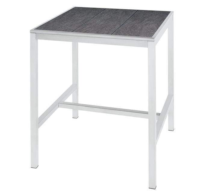 ALPES WHITE ZIX SQUARE BAR TABLE