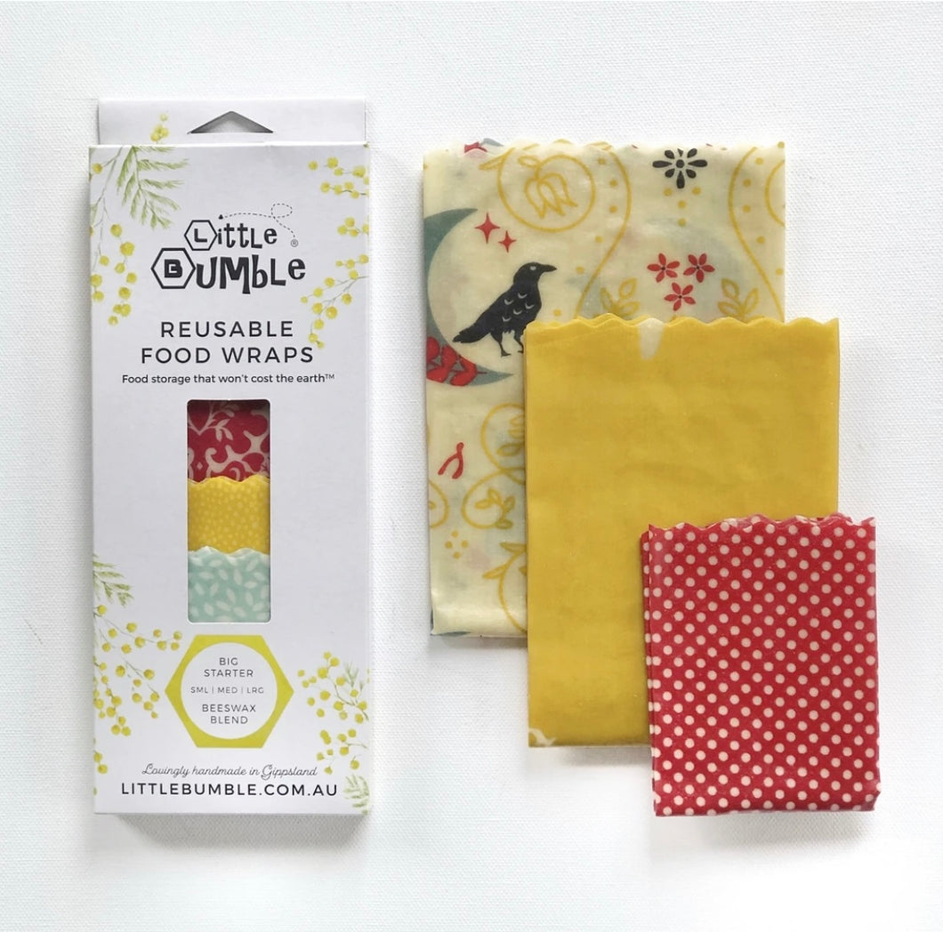 Bees Wax Wraps - Big Starter (Mid Sized Set) - 3 wraps