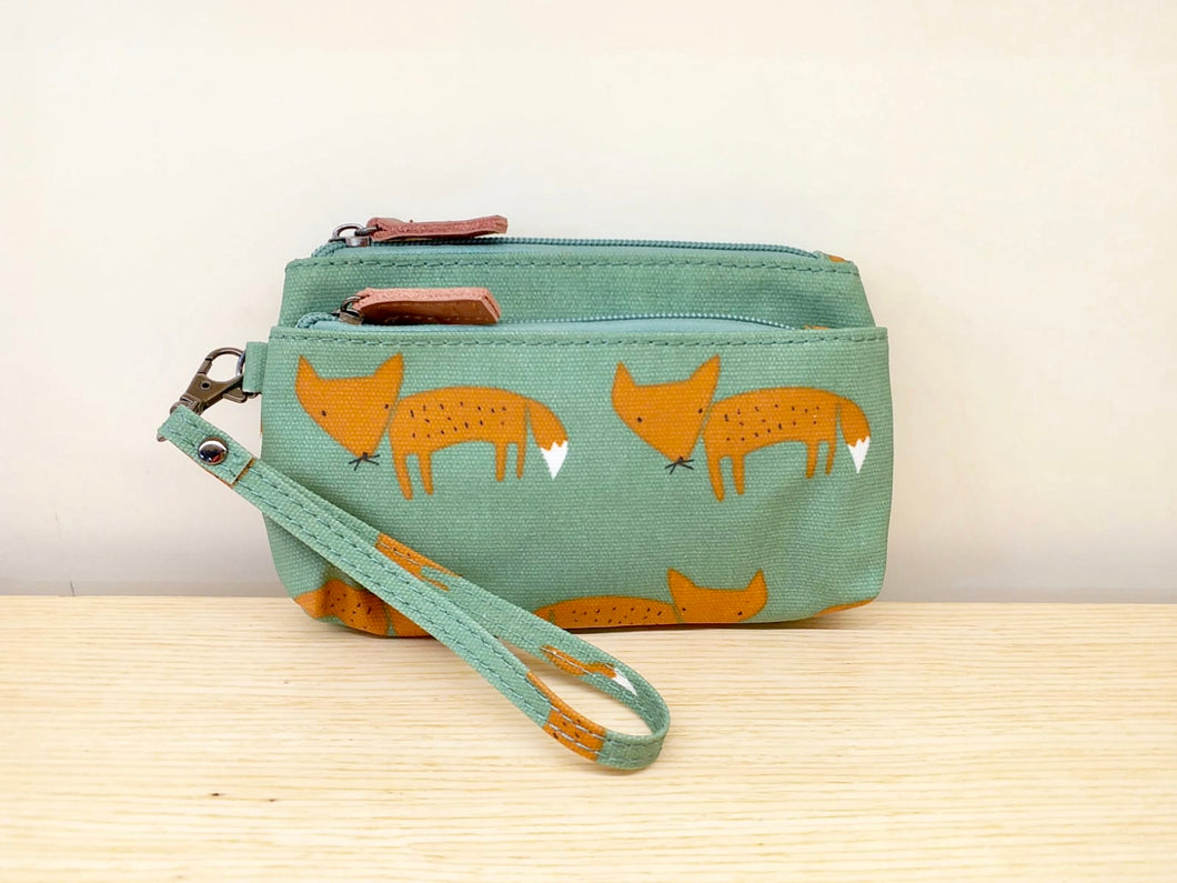 Small Clutch - Green Fox