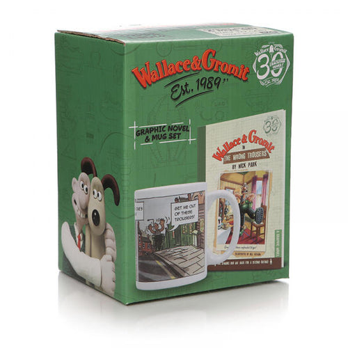 Gift set Mug & Book: Wallace & Gromit (The Wrong Trousers)