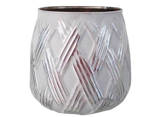 Glass 'Antiq White' Tealight Candleholder