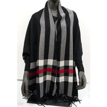 Load image into Gallery viewer, Miya Wrap Black/Red Check