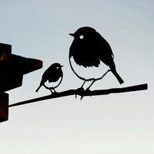 Load image into Gallery viewer, Metal Bird - Robin and Chick
