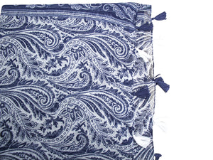 Scarf/Sarong Blue Feather