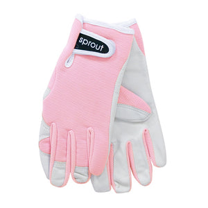 Sprout Goatskin Gloves - Crystal Pink