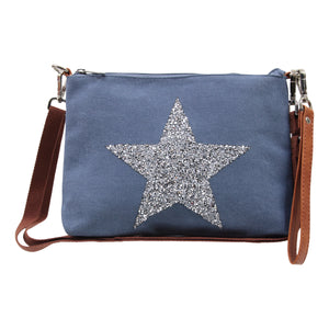 Star Power Wristlet - Denim