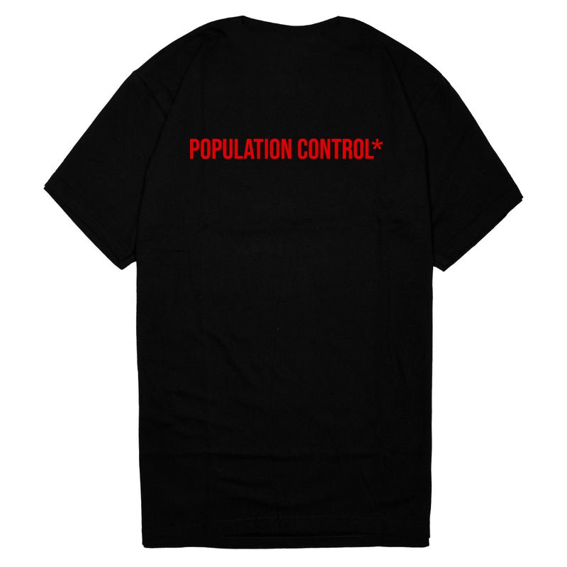 Mursaki Population Control Tee Red 398-243