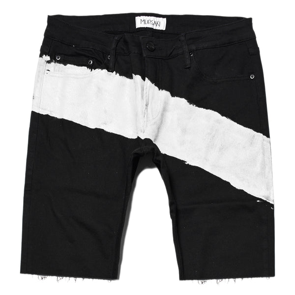 Mursaki Stripe Short - Black/Color