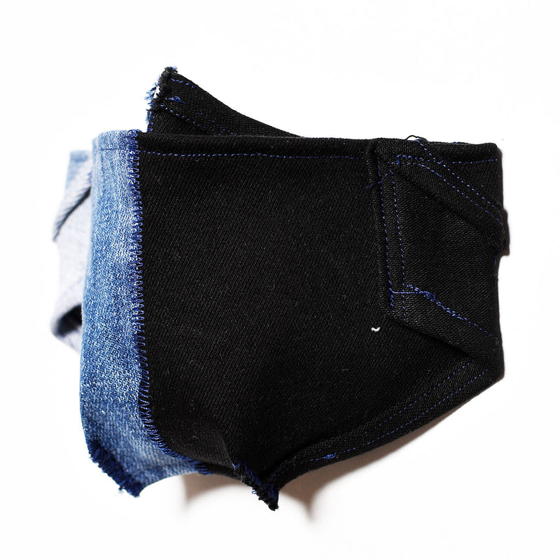 Mursaki Denim Mask - Split Black/Blue