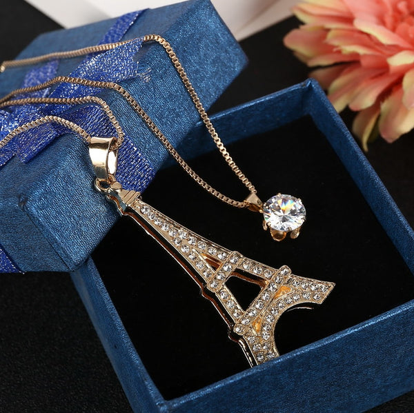 Eiffel Tower Necklace -Perfect For Your Paris Lover Spouse!