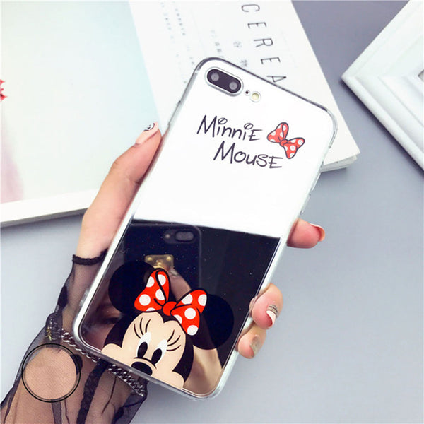 Adorable Mickey Minnie Mirror Iphone Phone Case