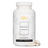Lifted Naturals Micro Melatonin - 220 Vegetable Capsules with Low Dose Melatonin, Non-GMO, Fast Dissolve Melatonin - 100 mcg