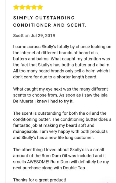 Skully's Beard Oil review