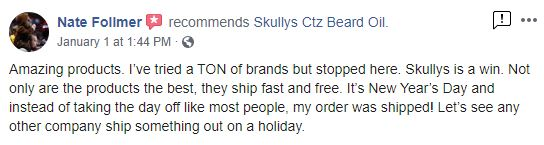 Skully's Beard Oil Reviews