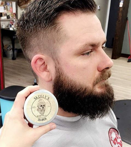 timber beard balm, barbershop, skullys ctz beard oil