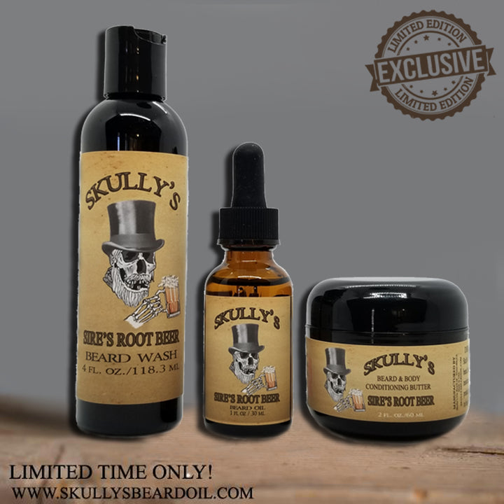 Sires Root Beer Beard oil, Beard wash & Beard butter Combo Pack (Limited Edition) Only Available Until June 21st