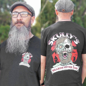 Beards Never Die Zombie T- Shirt