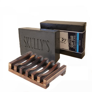 Skully's Aqua Beard & Body Activated Charcoal Bar Soap (3 Pack) by Skullys beard oil