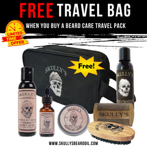 Skully's Beard Care Travel Pack with Dopp bag by Skully's Beard Oil