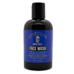 Mens Daily Face Wash with Activated Charcoal