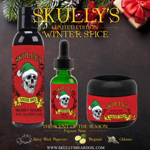 Winter Spice Beard oil, Beard wash & Beard butter Combo Pack (Limited Edition) by skullys beard oil
