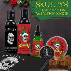 Winter Spice Ultimate Beard Care Kit (Halloween Limited Edition) , best beard oil by skullys beard oil