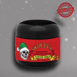 Winter Spice (Holiday Limited Edition) Beard & Body Conditioning Butter 2 oz. Available until December 31st, beard butter by Skullys Beard Oil