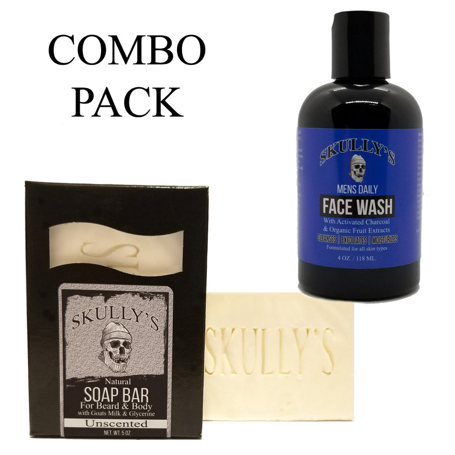 Goats Milk Soap Bar & Activated Charcoal Face wash Combo Pack