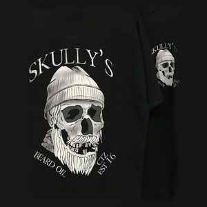 Skull T-Shirt - Black - Skully's Ctz Beard Oil