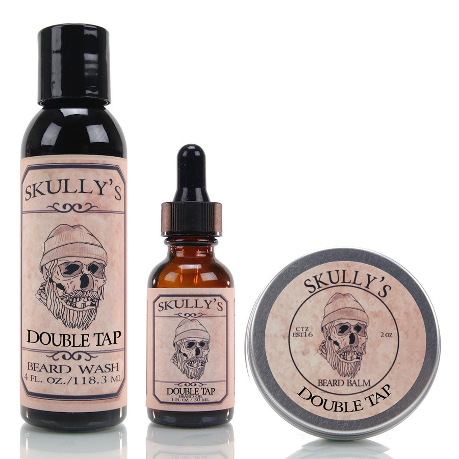 Beard Oil, Beard Balm & Beard Wash Combo Pack ( Your choice of scent) - Skully's Ctz Beard Oil