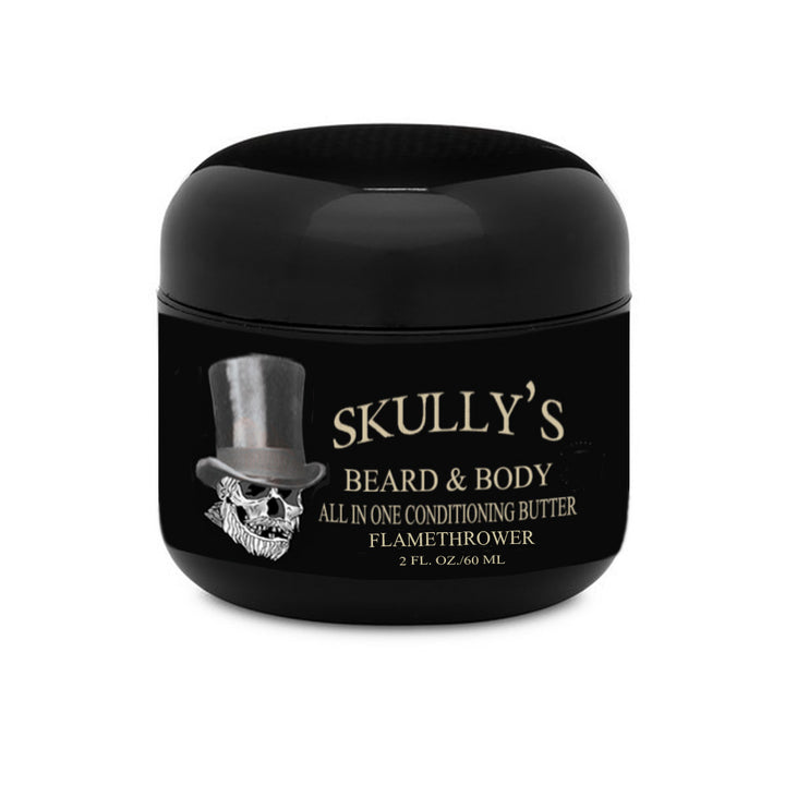 Flamethrower Beard & Body All In One Conditioning Butter 2 oz, cinnamon beard butter, clove beard butter by skullys beard oil