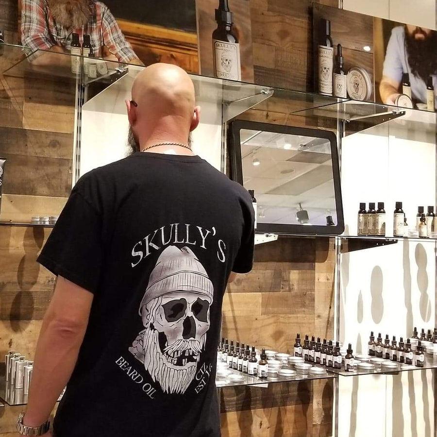 Skully's Tee Shirt and 1 oz Beard Oil combo (Your choice of scent)