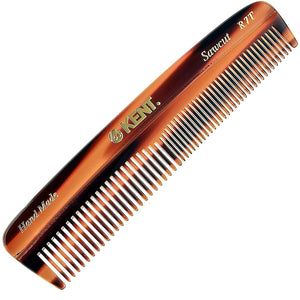 Kent R7T The Apsley Fine Tooth / Wide Tooth Comb for Beard Care and Mustache