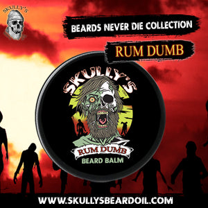 Rum Dumb Beard balm by Skully's Beard Oil. The best beard balm, beard oil for growth on the market.