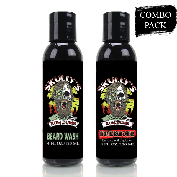 Rum dumb bay rum beard wash and hydrating beard conditioner by Skully's beard oil. The best beard oils for growth and thickness. Bears oil
