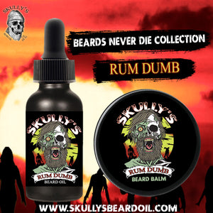 Rum Dumb Beard Oil & Beard Balm Combo Pack (Beards Never Die Collection)