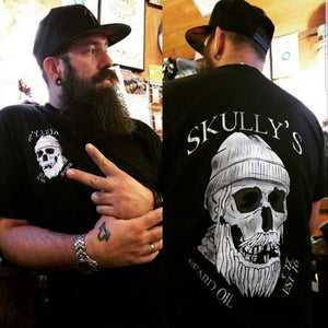 Skully's Tee Shirt and 1 oz Beard Oil combo (Your choice of scent) - Skully's Ctz Beard Oil