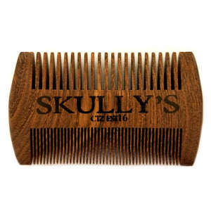 Skully's Sandalwood Double-Sided Comb