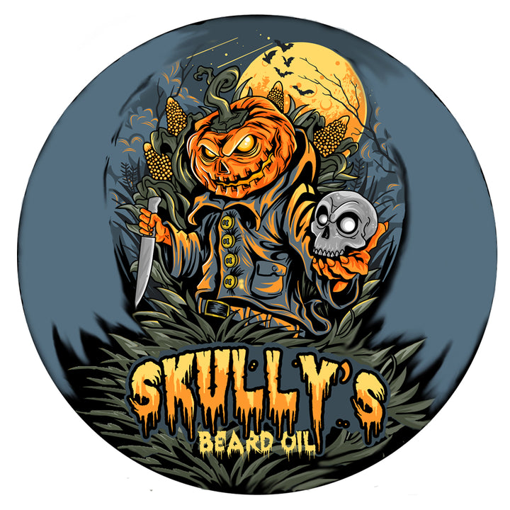 "4"" Pumpkin Head Limited Edition Vinyl Sticker , Halloween sticker by skullys beard oil"
