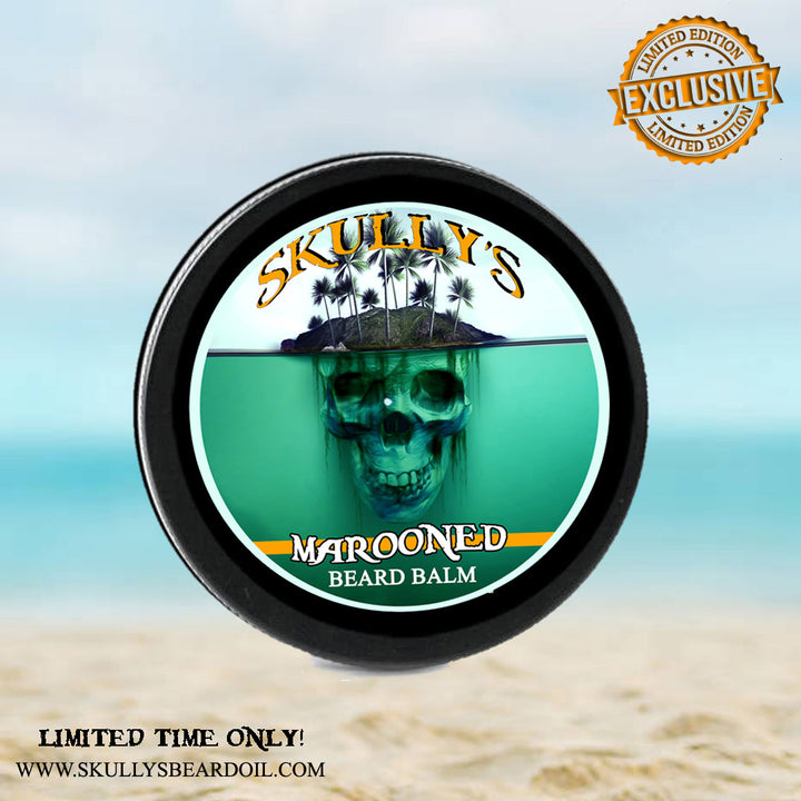 """ Marooned"" (Summer Limited Edition) Beard Balm 2 oz. - Only Available Until Sept.8th by Skully's Ctz Beard Oil"