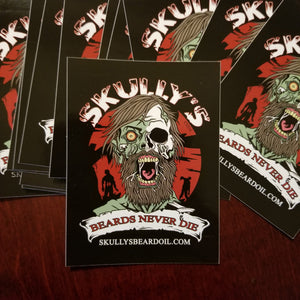 Skully's Beards Never Die Sticker