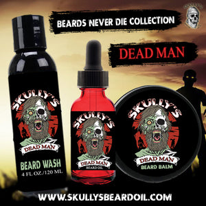 Dead Man Beard Oil, Beard Balm & Beard Wash Combo Pack (Beards Never Die Collection)
