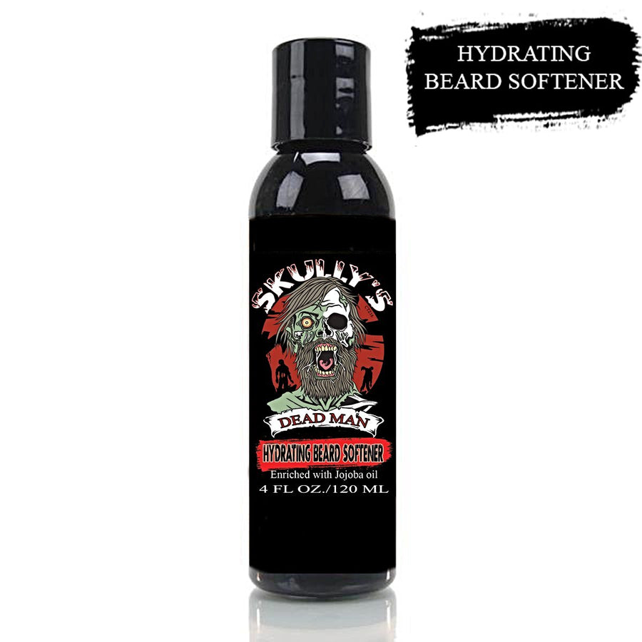 Skully's Dead Man Hydrating Beard Softener 4 oz. Formulated for beards to help soften & maintain your beard.