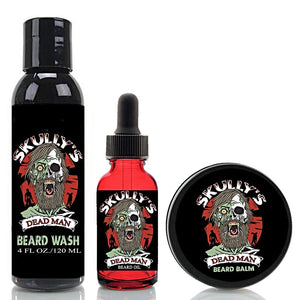 Dead Man Beard Oil, Beard Balm & Beard Wash Combo Pack (Beards Never Die Collection) Skully's beard oil Dead Man beard oil, the best beard oil for growth and thickness. Bears oil