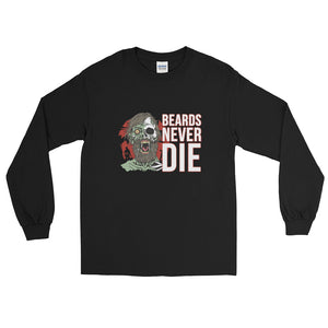 Beards Never Die Logo Long Sleeve Shirt