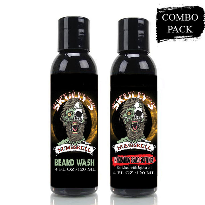 numbskull hydrating beard softener and beard wash combo pack, beard softener, beard wash, the best beard wash