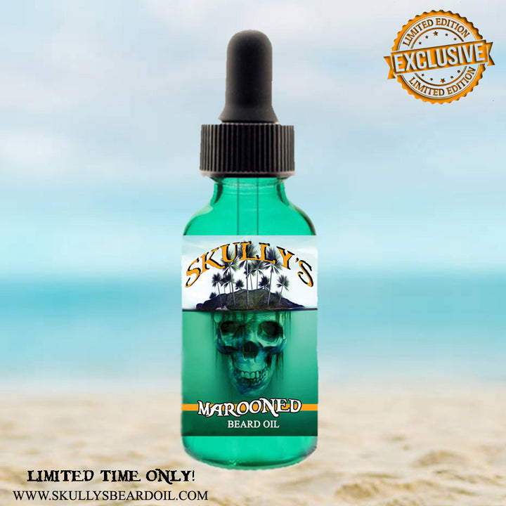 """Marooned"" (Summer Limited Edition) Beard Oil 1 oz. - Only Available Until Sept. 8th by Skullys ctz beard oil"